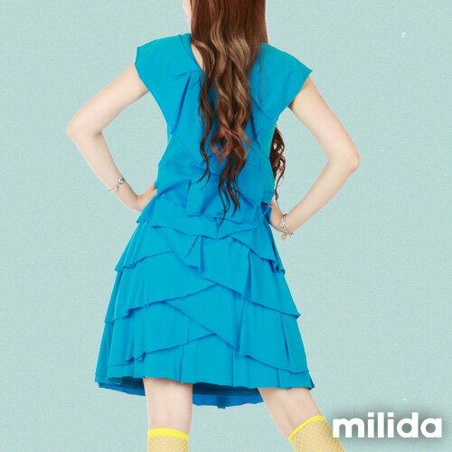【milida】MMRYDP004☆長版荷葉邊連身裙 1
