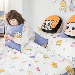 床包兩用被套組 / 雙人特大-100%精梳棉【MORITA的閃閃星空】含兩件枕套 獨家人氣插畫家 聯名款 陳森田 戀家小舖 台灣製