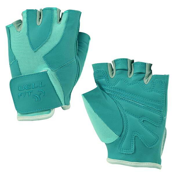 《台南悠活運動家》WELLFIT健身手套藍綠WF050004804