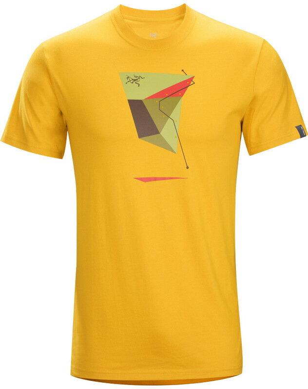 Arcteryx 始祖鳥/品牌T恤/穿搭/短袖棉T/圓領T恤 17455 Geo Sport 男款 番花黃