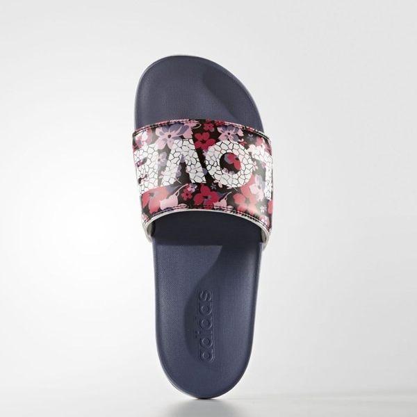 Adidas Adilette CF ultra love W 拖鞋 女鞋 軟底 花卉 紫 粉 【運動世界】 S78607