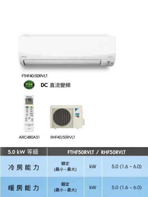 大金冷暖變頻分離式FTHF20RVLT 省電 PM2.5除塵 高品質 靜音 2