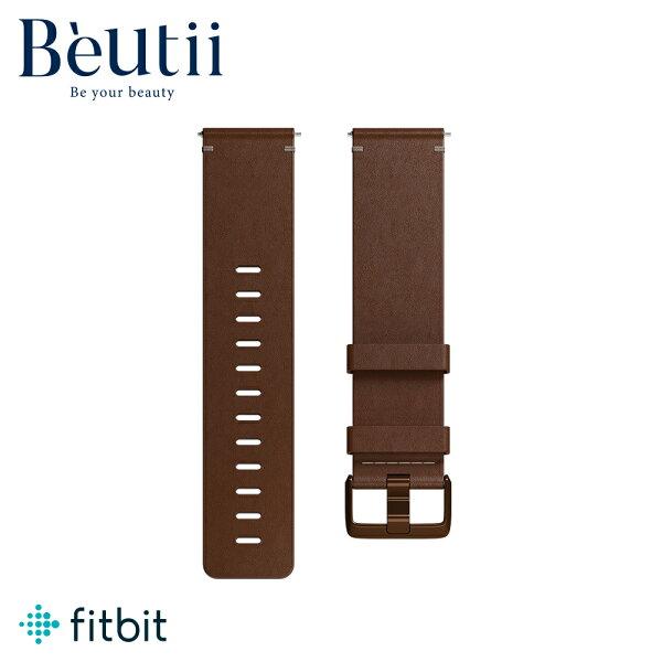 FitbitVersa皮革錶帶fitbit原廠公司貨暗棕色海軍藍