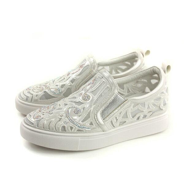 HUMANPEACE懶人鞋簍空白色女鞋809-1-52no145