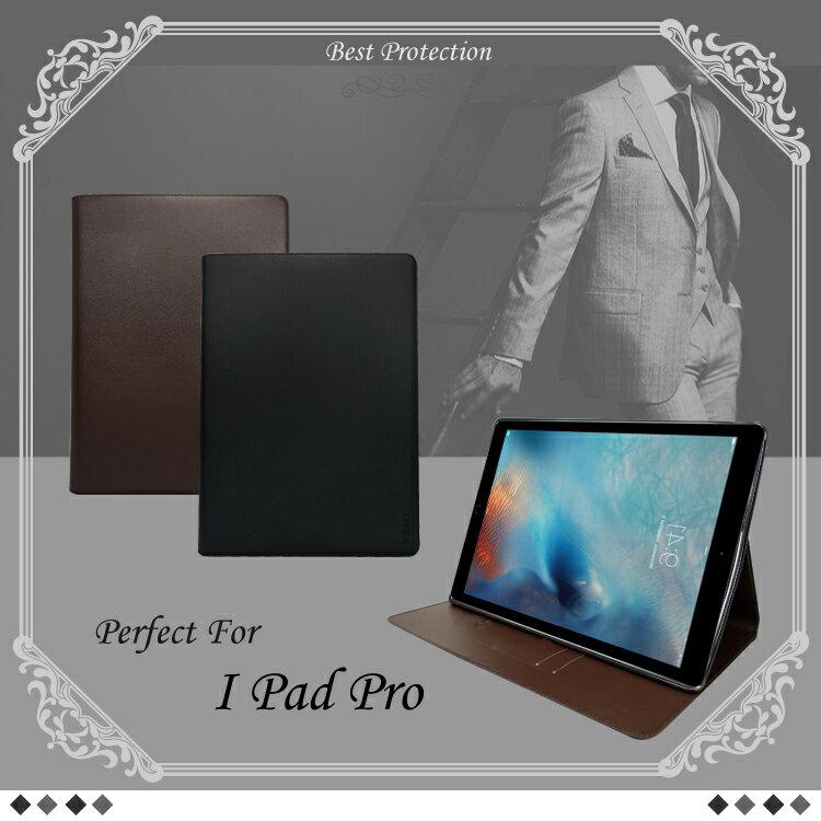 真皮系列 Apple iPad Pro 12.9 吋 側掀皮套/保護套/平板套/可放卡片/保護平板/立架式/軟殼