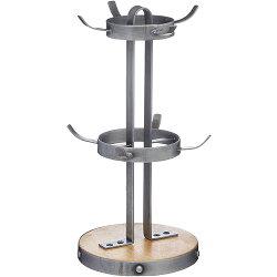 《KitchenCraft》工業風掛式杯架(8杯)
