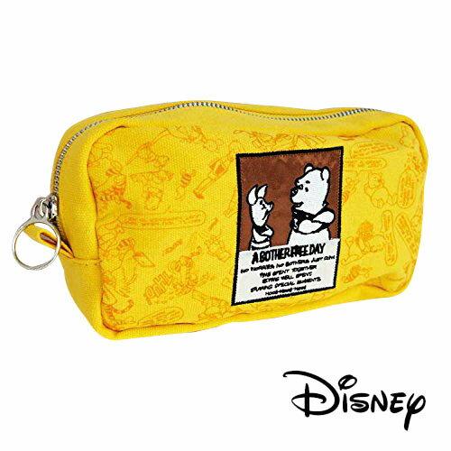 【日本進口】小熊維尼 Winnie the Pooh 帆布 筆袋 鉛筆盒 收納包 迪士尼 Disney - 519081