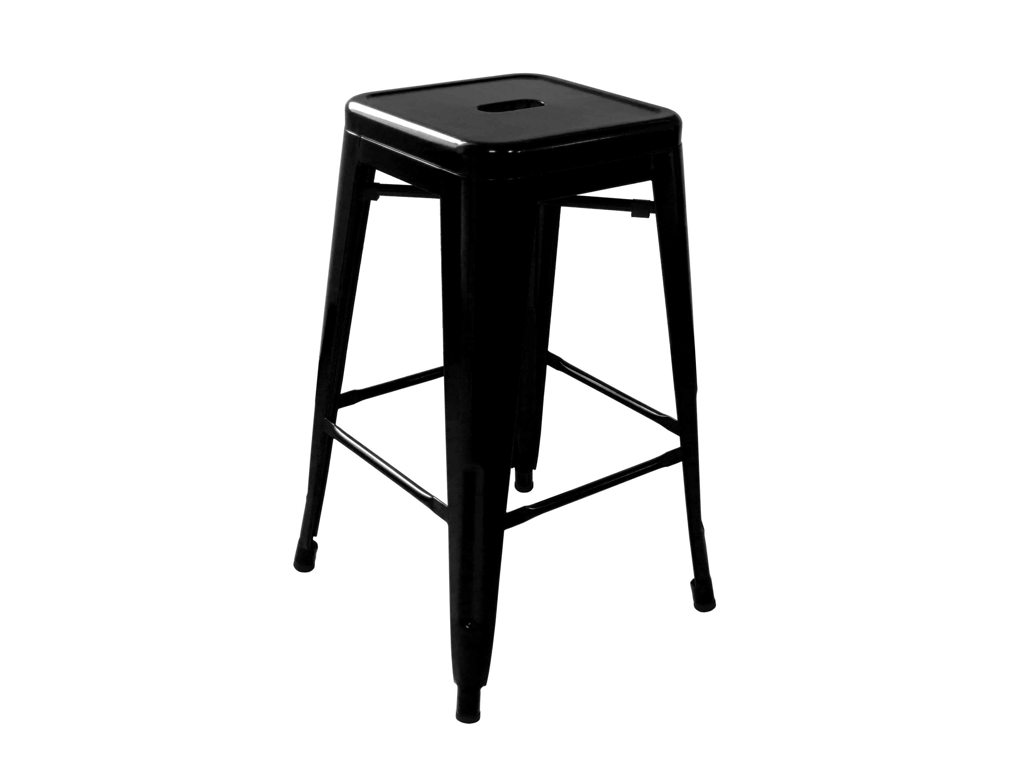 《奧莉薇》黑色 工業風 loft 亮面 中吧檯椅 鐵椅 餐椅 高凳 tolix 復古 鐵皮 美式 六色 !新生活家具! 樂天雙12