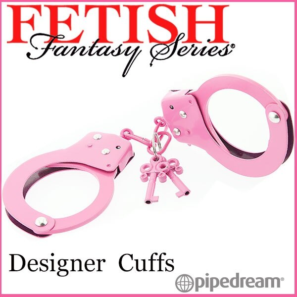 【亞娜絲情趣用品】SM道具-美國原裝進口PIPEDREAM.Fetish Fantasy系列-SM彩色金屬手銬-粉
