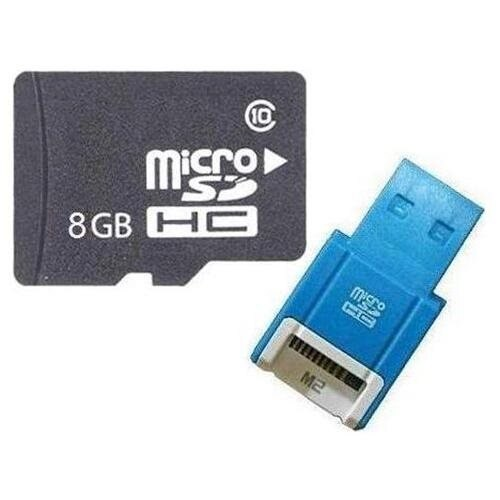 OEM 8GB 8G microSD microSDHC Class 10 micro SD SDHC C10 TF Flash Memory Card + SD Adapter and USB 2.0 Card Reader