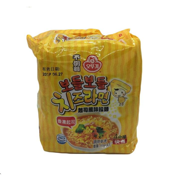 起司泡麵  韓國不倒翁起司風味拉麵 111gx4入 韓國 泡麵 速食麵 方便麵