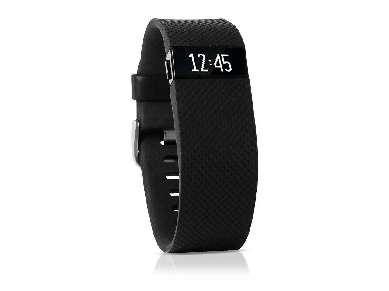 Fitbit Charge HR Heart Rate & Activity Fitness Monitor Wristband - Black - Small 0