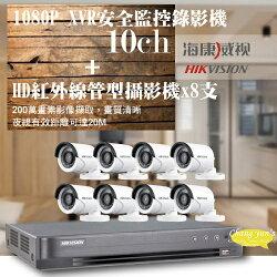 高雄監視器/200萬1080P-TVI/套裝組合【8路監視器+200萬管型攝影機*8支】DIY組合優惠價