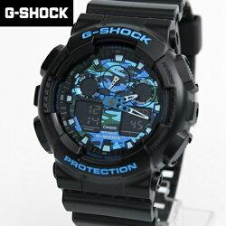 G-SHOCK 黑藍迷彩手錶 柒彩年代【NECG17】casio