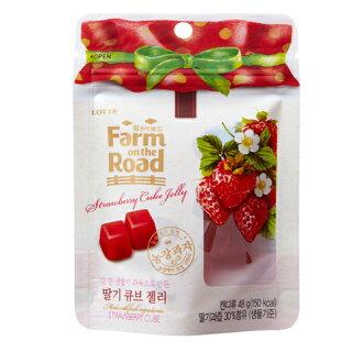 LOTTE田園軟糖-草莓48g【愛買】