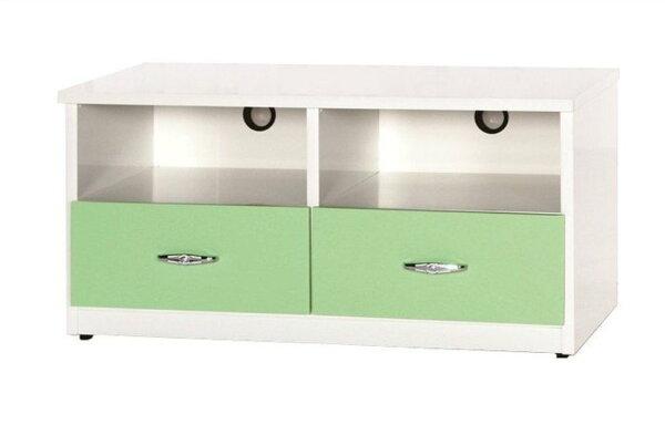 【石川家居】842-07(3.3尺綠白色)電視櫃(CT-212)#訂製預購款式#環保塑鋼P無毒防霉易清潔