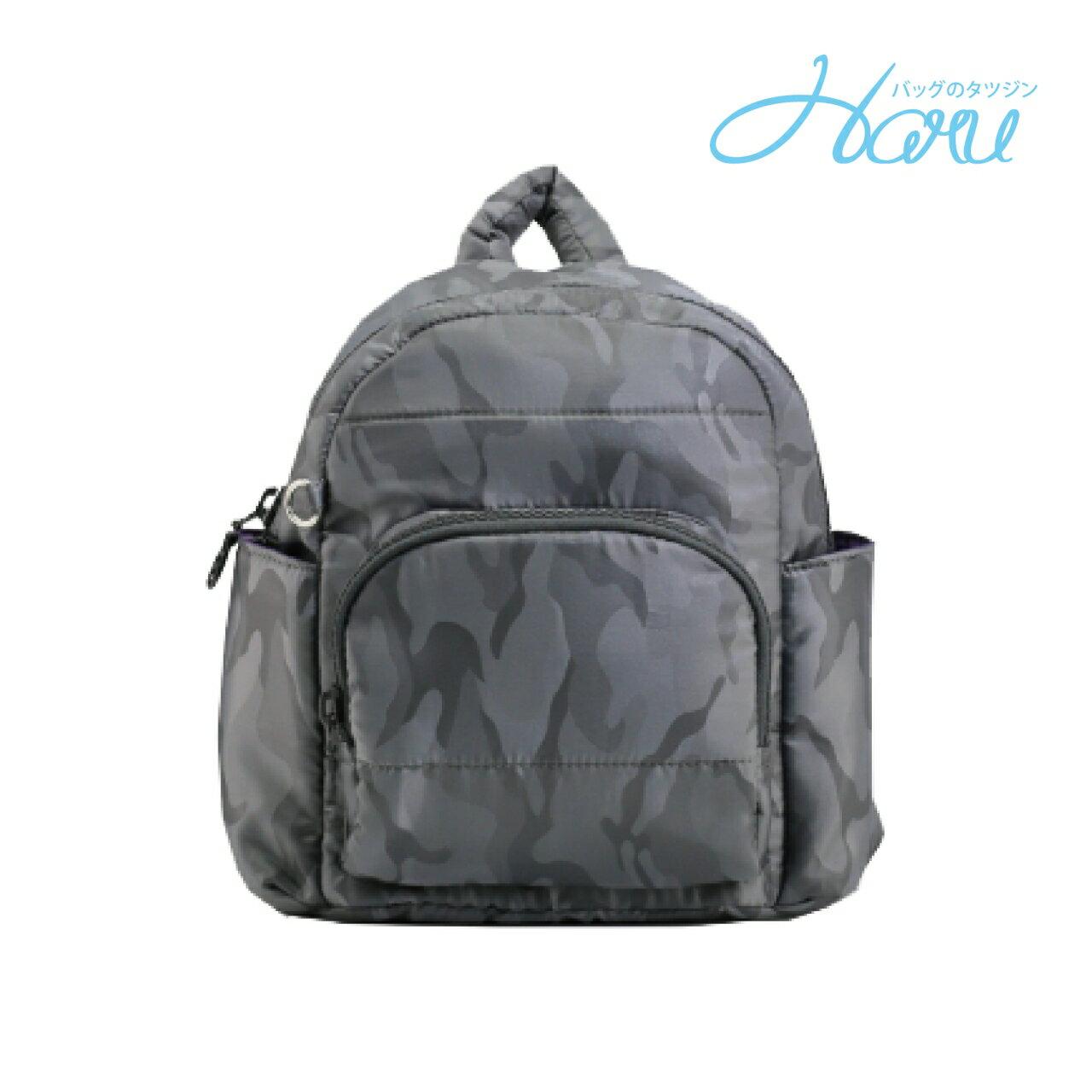 HARU 小晴天本舖媽媽包 日本布料 小童背包【灰迷彩】