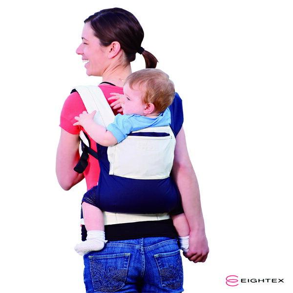 日本【Eightex】COALATTE腰帶型二用式背巾 -深藍色/米色 1