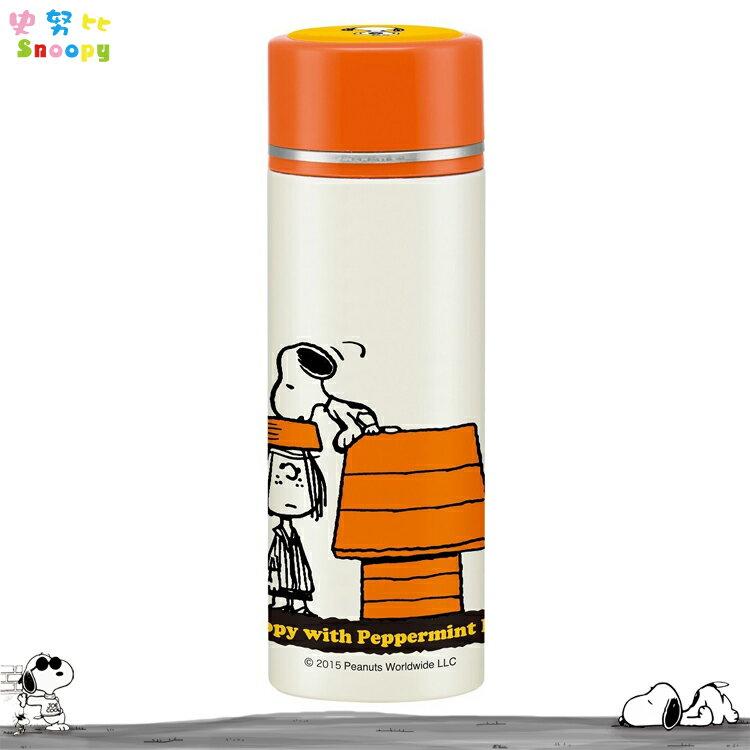 史努比 史奴比 Snoopy 不鏽鋼 超輕量 保溫保冷 水壺 SMBC4 350ml 日本進口正版 325328