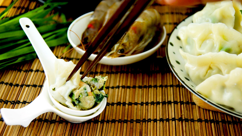 譚媽餃子-韭菜蝦仁水餃(24入) 大顆 好吃 真材實料