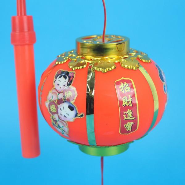 小圓燈 手提燈光小燈籠 傳統圓型燈籠(有音樂)/一個入{促60}~富-85