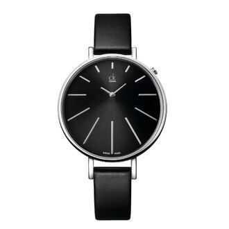CK 光芒系列(K3E231C1)太陽光芒時尚腕錶/黑面40.5mm
