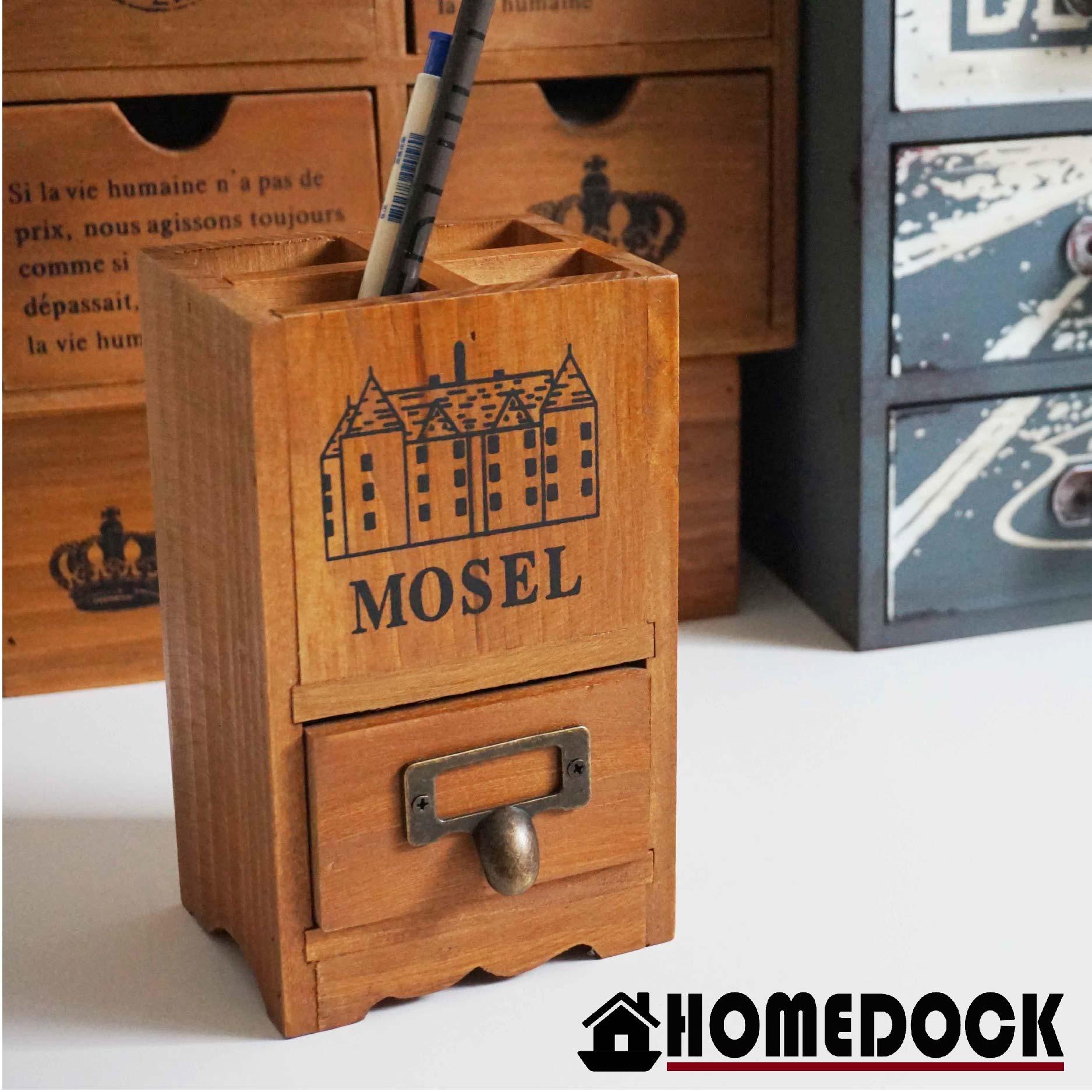 原木質感辦公桌筆筒 /筆筒/置物盒/Zakka/雜貨/原木製/層格櫃/文具筒/雙層