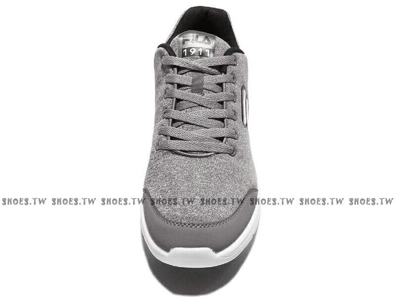 《限時特價990元》 Shoestw【1J907Q440】FILA 慢跑訓練鞋 灰白 棉布 男款 2