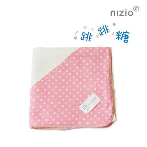 Nizio 跳跳糖嬰兒四層紗浴包巾-粉紅★愛兒麗婦幼用品★