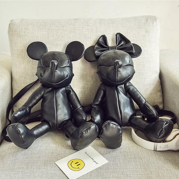 米奇 米妮 立體 後背包 手拿包 側背包 皮革 娃娃 抱 可愛 米老鼠 mickey 美妮 minnie 明星 ANNA S.