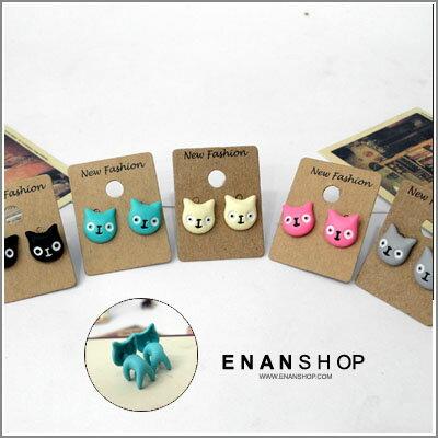 惡南宅急店【0043D】首爾漫遊?韓國精品『黑色立體兔寶寶耳環』超多款?單顆價