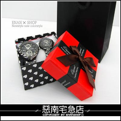 惡南宅急店【0060H】送禮推薦 精美『愛心鍛帶禮盒+提袋』手環或手錶可使用。一套價