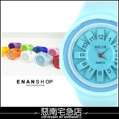 惡南宅急店~0327F~ 手錶 男錶女錶~立體花紋~情侶對錶可 方塊  圓形款