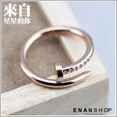 惡南宅急店【0329C】正韓劇 來自星星的你戒指釘子設計 千頌伊時尚金風格 送禮推