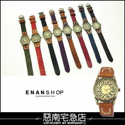 惡南宅急店【0334F】造型手錶?小窄版設計『數字古典』情侶對錶可?單支價