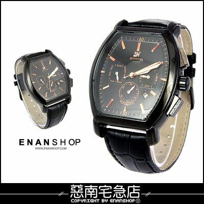 惡南宅急店【0359F】免運?韓 『真三眼機械品味』金屬手錶 可當情侶對錶?單支價