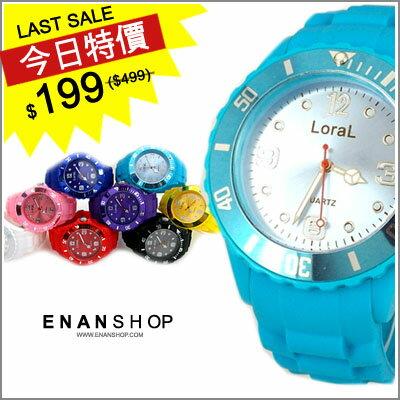 惡南宅急店~0422F~首爾漫遊  男錶女錶~冰沙配色~對錶情侶錶可中性款 單價