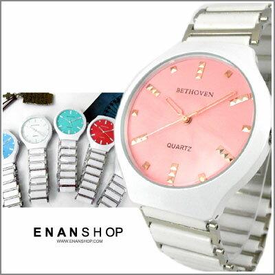 惡南宅急店【0481F】螺旋設計 陶瓷錶帶 陶瓷錶 男錶 女錶 對錶 情侶錶?單支價