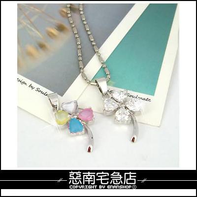惡南宅急店【7213A】專櫃鍍白k項鍊『甜美單品』vivi雜誌介紹款?單條價