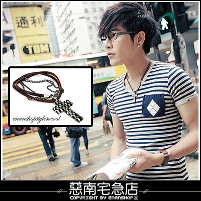 惡南宅急店【7291A】 不用等 香港帶回『層次雙鍊混搭』項鍊 品味不可取代