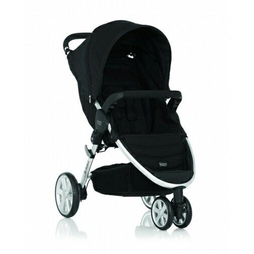 Britax - B-Agile單手收豪華三輪手推車 -黑 (附前扶手) 加購Britax - Baby-Safe提籃享特價優惠!