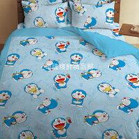 小叮噹週邊商品推薦(免運費)正版卡通授權台灣製造系列寢飾【Doraemon哆啦A夢】單人床包組/雙人床包組/被套/兩用被/鋪棉被套/枕套/枕頭套~華隆寢飾