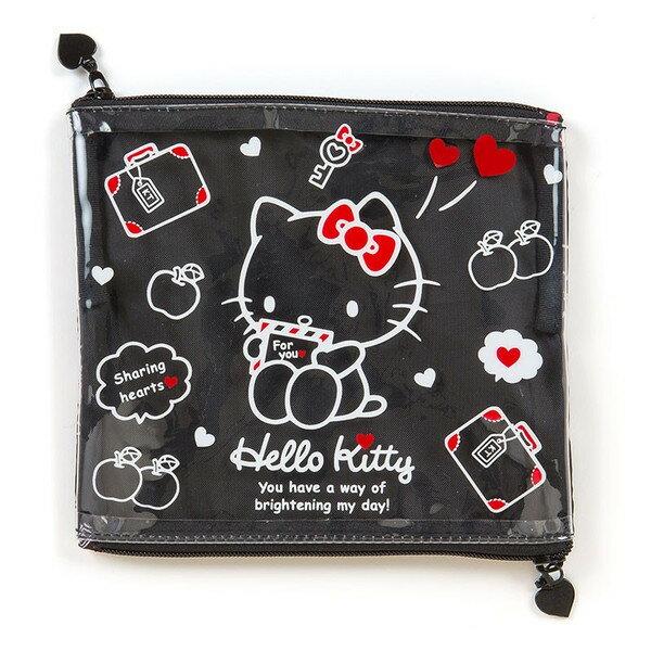 ~真愛 ~15061100063 收納袋~KT雙拉鍊雙層藍 三麗鷗 Hello Kitty