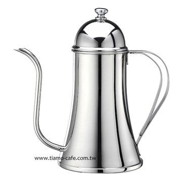 金時代書香咖啡  Tiamo 不鏽鋼 滴漏式 細口壺 0.7L 極細 8mm口徑 通過SGS檢測  HA1594