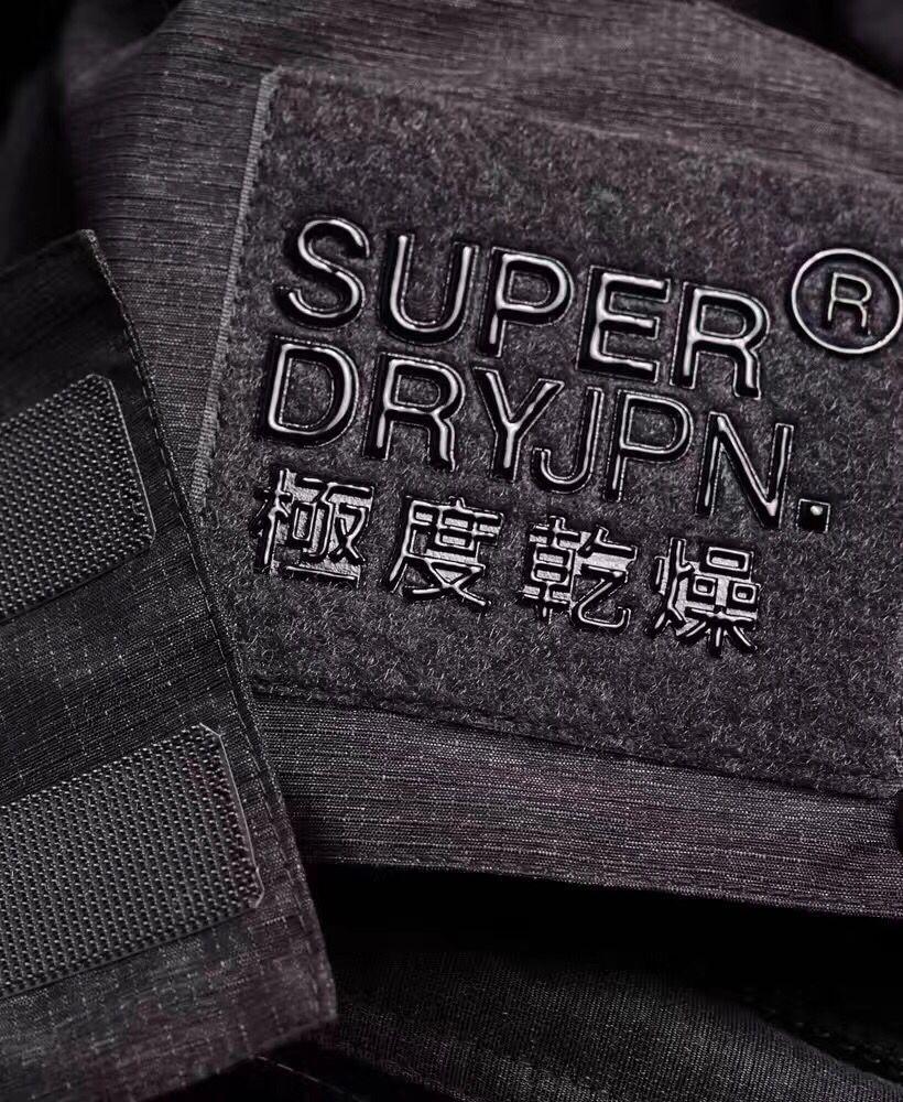 (Smile) 男款Superdry 連帽三層拉鍊 夾克加厚防水衣 炭灰配黑 2