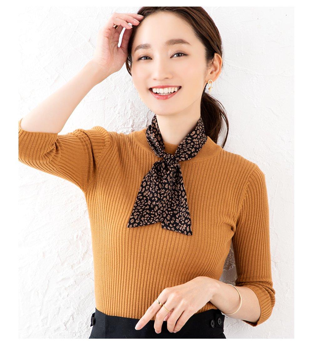 日本CREAM DOT  /  全7色 スカーフ ツイリースカーフ ファッション小物 ベルト ストール 大人 レオパード柄 ゼブラ柄 ペイズリー柄 ベージュ モカ レンガ  /  k00335  /  日本必買 日本樂天直送(1290) 7