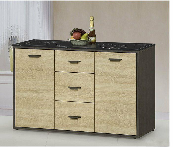 ~尚品 ~ JF~411~2 瑪莎4尺雙色石面碗盤櫃下座