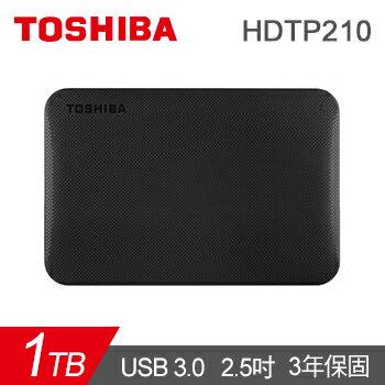 【Toshiba】Canvio Ready 1TB 行動硬碟 USB3.0 (HDTP210AK3AA) 黑/白