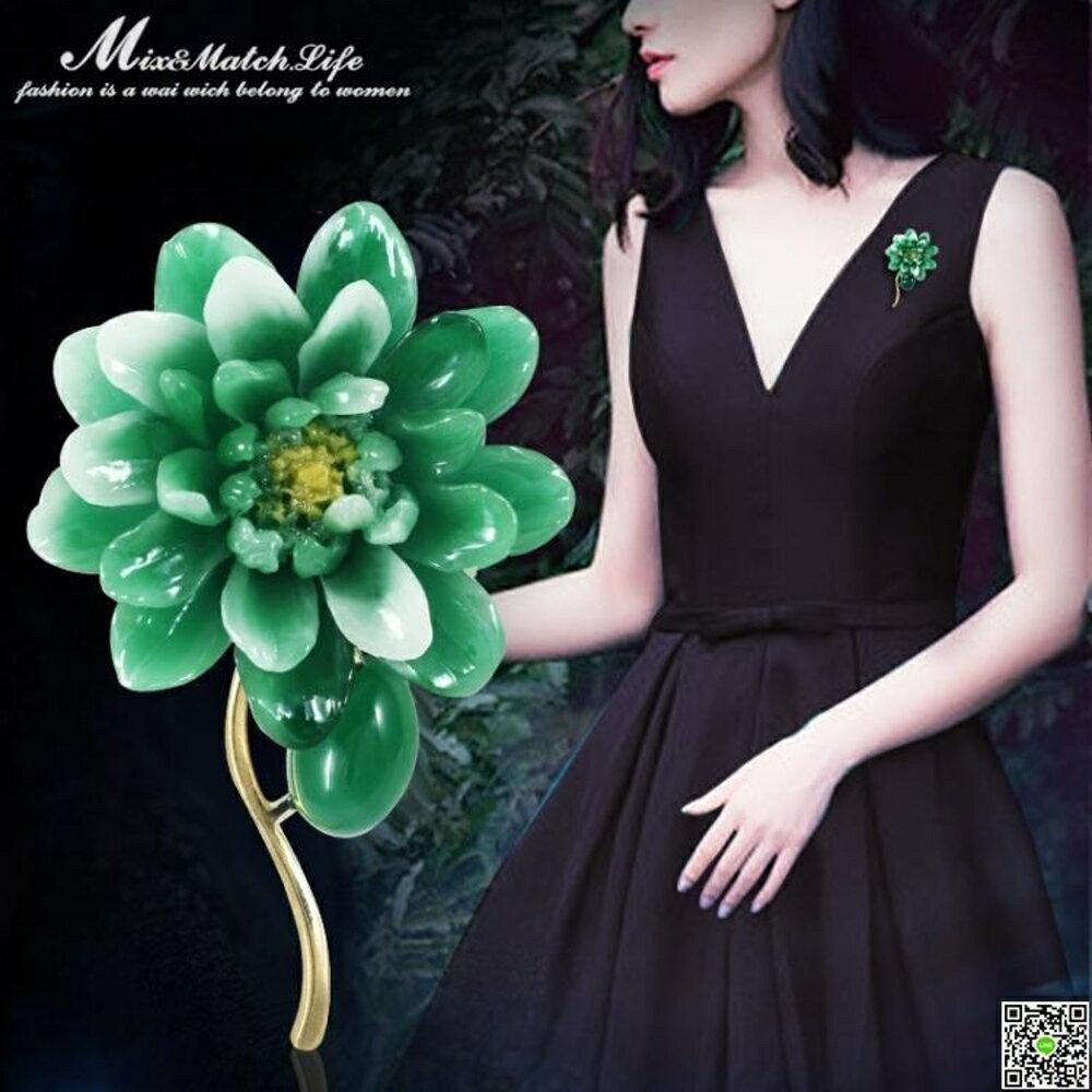 時尚牡丹花朵胸針女中國風連身裙西服百搭胸花吊墜兩用別針配飾 都市時尚