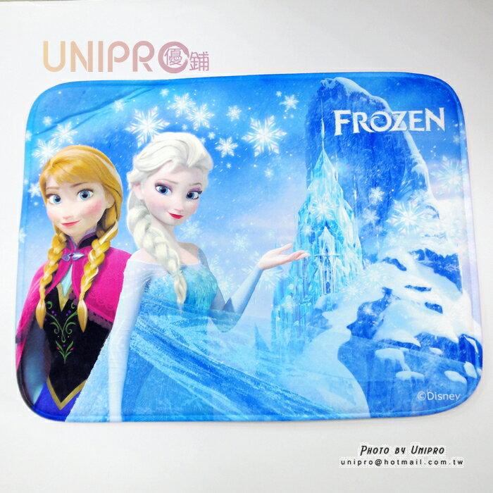 【UNIPRO】迪士尼正版 冰雪奇緣 FROZEN 腳踏墊 60X45 浴室地墊 防滑墊 踏墊 門墊 艾莎 安娜 雪寶